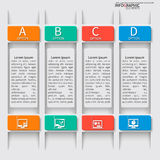 Abstract 3D Paper Infographics Stock Photo