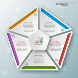 Abstract 3D Paper Infographics. Vector abstract 3d paper infographic elements.Business infographics Stock Images