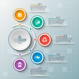 Abstract 3D Paper Infographics. Vector abstract 3d paper infographic elements.Business infographics Royalty Free Stock Image
