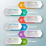 Abstract 3D Paper Infographics. Vector abstract 3d paper infographic elements.Business infographics Stock Photography