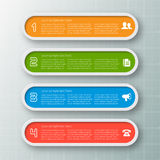 Abstract 3D Paper Infographics. Vector abstract 3d paper infographic elements.Business infographics Royalty Free Stock Photo