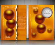 Abstract 3D Paper Infographics. Vector abstract 3d paper infographic elements.Business infographics, flyer design layout template Stock Photography