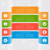 Abstract 3D Paper Infographics. Vector abstract 3d paper infographic elements.Business infographics.Ribbons infographic design Royalty Free Stock Photos