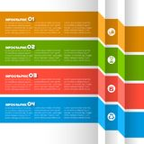 Abstract 3D Paper Infographics. Vector abstract 3d paper infographic elements.Business infographics.Ribbons infographic design Stock Images