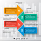 Abstract 3D Paper Infographics. Vector abstract 3d paper infographic elements.Business template royalty free illustration
