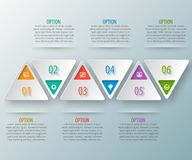 Abstract 3D Paper Infographics. Vector abstract 3d paper infographic elements.Business infographics.Triangular design Stock Image