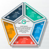 Abstract 3D Paper Infographics. Vector abstract 3d paper infographic elements.Circular infographics Stock Images