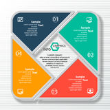 Abstract 3D Paper Infographics. Vector abstract 3d paper infographic elements.Circular infographics Royalty Free Stock Photos