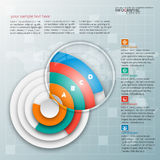 Abstract 3D Paper Infographics. Vector abstract 3d paper infographic elements.Circular infographics Royalty Free Stock Photo