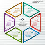 Abstract 3D Paper Infographics. Vector abstract 3d paper infographic elements.Circular infographics Stock Photography