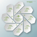 Abstract 3D Paper Infographics. Vector abstract 3d paper infographic elements.Circular infographics Royalty Free Stock Photography