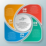 Abstract 3D Paper Infographics. Vector abstract 3d paper infographic elements.Circular infographics Stock Photos
