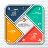 Abstract 3D Paper Infographics. Vector abstract 3d paper infographic elements.Circular infographics.Square Royalty Free Stock Image
