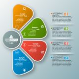 Abstract 3D Paper Infographics. Vector abstract 3d paper infographic elements.Four options.Business infographics Stock Images