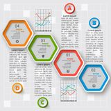Abstract 3D Paper Infographics Stock Image