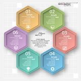 Abstract 3D Paper Infographics. Vector abstract 3d paper infographic elements.Hexagon infographics.Honeycomb design royalty free illustration