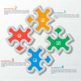 Abstract 3D Paper Infographics Royalty Free Stock Photos