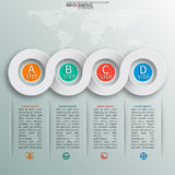 Abstract 3D Paper Infographics Stock Photography