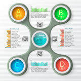 Abstract 3D Paper Infographics. Vector abstract 3d paper infographic elements.Metaball infographics.Round elements royalty free illustration