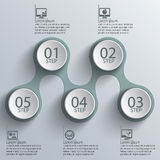 Abstract 3D Paper Infographics Stock Photos