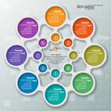 Abstract 3D Paper Infographics. Vector abstract 3d paper infographic elements.Metaball infographics.Round elements.Circular infographics royalty free illustration