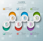 Abstract 3D Paper Infographics. Vector abstract 3d paper infographic elements.Metaball infographics.Round elements.Timeline infographics vector illustration
