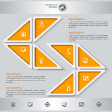 Abstract 3D Paper Infographics. Vector abstract 3d paper infographic elements. Triangles Royalty Free Stock Photography