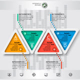 Abstract 3D Paper Infographics. Vector abstract 3d paper infographic elements.Triangular infographics Royalty Free Stock Photography