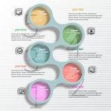 Abstract 3D Paper Infographics. Vector abstract 3d paper infographic metaball elements royalty free illustration