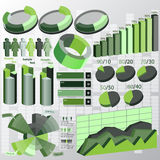 Abstract 3D Paper Infographics. Vector abstract 3d paper set infographic elements Royalty Free Stock Photo