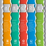 Abstract 3D Paper Infographics. Vector abstract 3d torn paper infographic elements Royalty Free Stock Photography