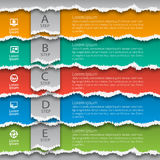 Abstract 3D Paper Infographics. Vector abstract 3d torn paper infographic elements Royalty Free Stock Images