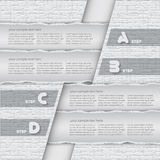 Abstract 3D Paper Infographics. Vector abstract 3d torn paper infographic elements royalty free illustration