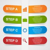 Abstract 3d paper sticker infographic. Royalty Free Stock Photo