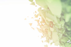 Abstract 3d particle background. 3d futuristic polygonal shape abstract geometric background Royalty Free Stock Photo