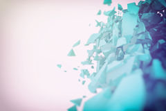 Abstract 3d particle background. 3d futuristic polygonal shape abstract geometric background Stock Photography
