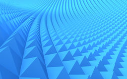 Abstract 3D pattern. An abstract 3d pattern with blue triangles Royalty Free Stock Photo