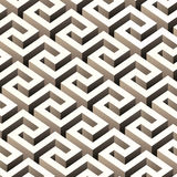 Abstract 3D pattern. Abstract 3D seamless pattern. Vector maze illustration Royalty Free Stock Photos