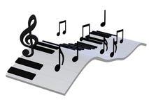 Abstract 3d pianotoetsenbord Stock Foto's