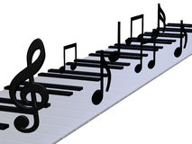 Abstract 3d pianotoetsenbord Stock Foto