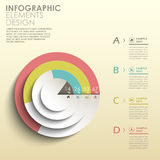 Abstract 3d pie chart infographics Royalty Free Stock Image