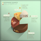 Abstract 3d pie chart infographics. Realistic vector abstract 3d pie chart infographic elements Royalty Free Stock Photo