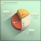 Abstract 3d pie chart infographics. Realistic vector abstract 3d pie chart infographic elements Royalty Free Stock Photography