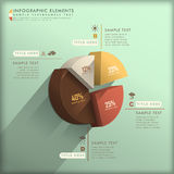 Abstract 3d pie chart infographics Royalty Free Stock Photos