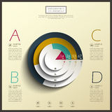 Abstract 3d pie chart infographics. Vector abstract 3d pie chart infographic elements Stock Photos