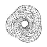 Abstract 3D polygonal wireframe geometric knot isolated. Stock Image