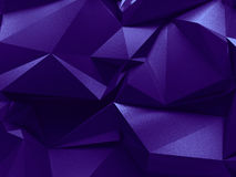 Abstract 3d purple crystallized background. Background with 3d crystallized surface Royalty Free Stock Image