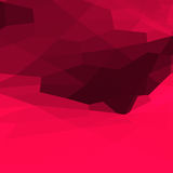 Abstract 3D purple polygons background. Polygonal rendered geometry made of blocks. Light and shade stock illustration