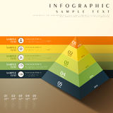Abstract 3d pyramid chart infographics. Flat style vector abstract 3d pyramid chart infographic elements Royalty Free Stock Photos