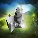 Abstract 3D pyramid, geometric colorful triangle Stock Image